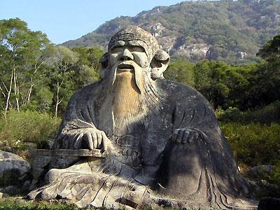 A statue of Lao Tzu in China